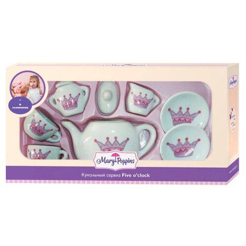 Набор посуды Mary Poppins Корона 453016 белый набор посуды mary poppins корона 13 предметов фарфоровая 453013