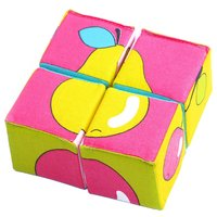 Кубики-пазлы Мякиши Собери картинку Ягоды