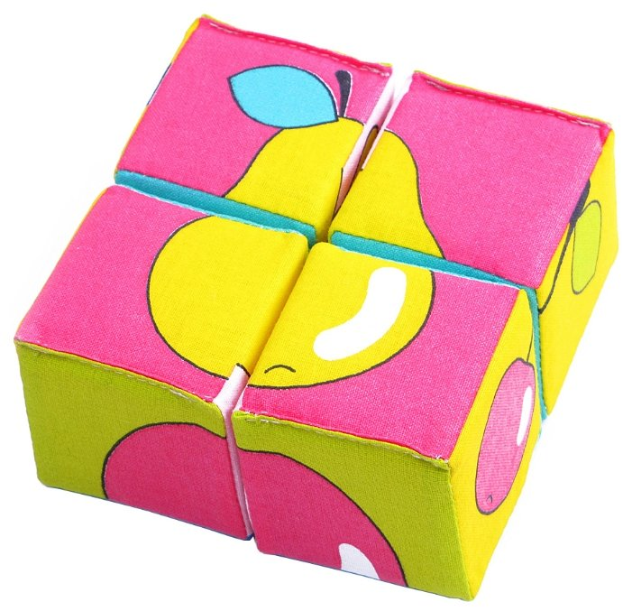 Кубики-пазлы Мякиши Собери картинку Ягоды, Фрукты, Овощи