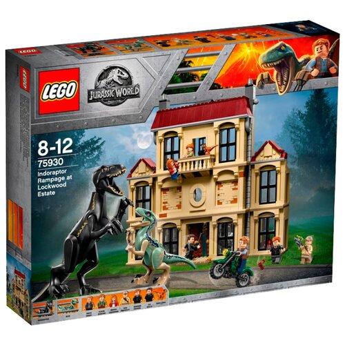 Конструктор LEGO Jurassic World 75930 Нападение Индораптора в поместье Локвуд lego нападение на планетуэндор разноцветный