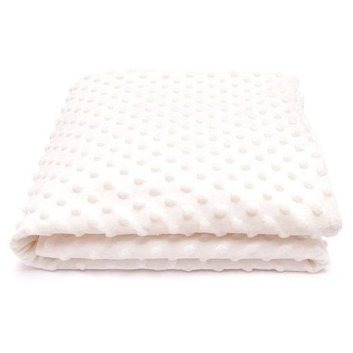 Плед Сонный Гномик Горошек 90х90 см молочныйПокрывала, подушки, одеяла<br>