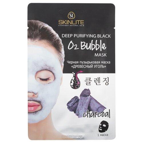 Skinlite черная пузырьковая маска древесный уголь, 20 гМаски<br>