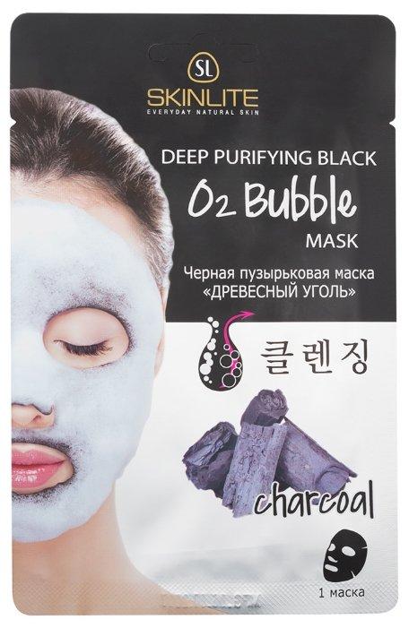 Skinlite черная пузырьковая маска древесный уголь