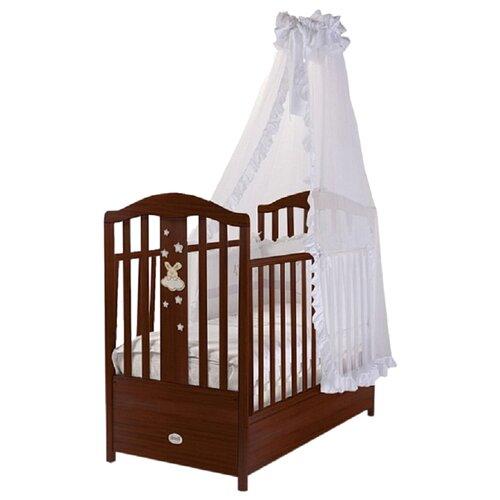 Кроватка Feretti Romance FMS (классическая), продольный маятник темный орех, Кроватки  - купить со скидкой