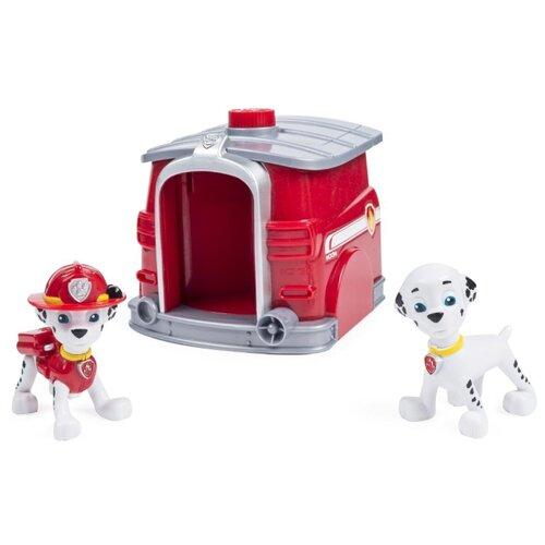 Купить Игровой набор Spin Master Paw Patrol Два щенка в домике - Маршал 20070788, Игровые наборы и фигурки