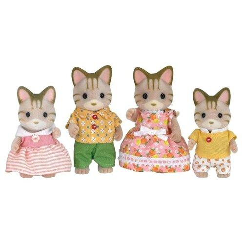 Купить Фигурки Sylvanian Families Семья полосатых кошек 5180, Игровые наборы и фигурки