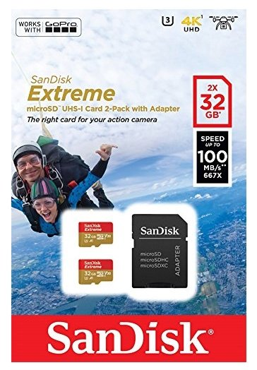 SanDisk Карта памяти SanDisk Extreme microSDHC Class 10 UHS Class 3 V30 A1 100MB/s