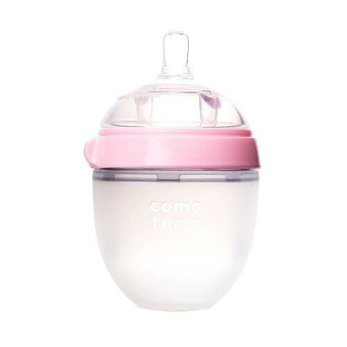 Купить Comotomo Бутылочка антиколиковая 150 мл, с рождения, розовый, Бутылочки и ниблеры