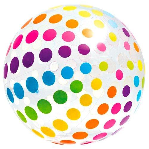 цена на Пляжный мяч Intex Джамбо 59065 разноцветная полоска