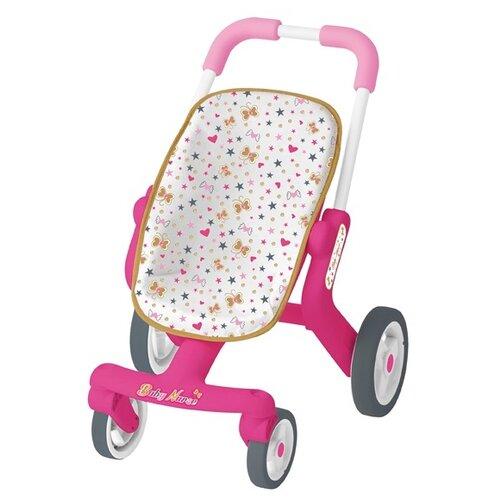 Прогулочная коляска Smoby 251223 розовый/белый smoby сортер корзинка cotoons цвет розовый