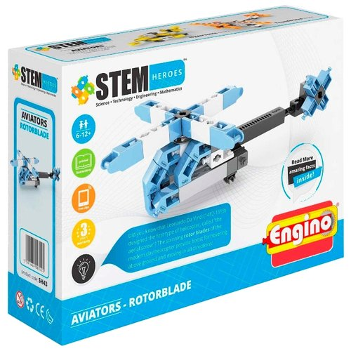 Конструктор ENGINO STEM Heroes SH43 Авиация - Вертолет конструктор engino sh21 покорители космоса посейдон