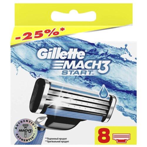 Сменные кассеты Gillette Mach3 Start, 8 шт. gillette mach3 set i