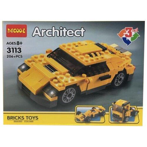 Купить Конструктор Jisi bricks (Decool) Architect 3113 Автомобиль 3 в 1, Конструкторы