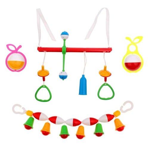 Купить Набор Аэлита Первая игрушка зеленый/желтый/красный, Погремушки и прорезыватели