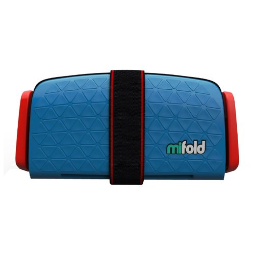 Бустер группа 3 (22-36 кг) Mifold The Grab and Go Booster, denim blue бустер mifold the grab and go slate grey