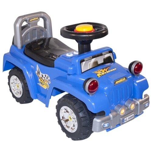 Купить Каталка-толокар Baby Care Advancer (553) со звуковыми эффектами синий, Каталки и качалки
