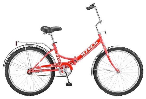 Городской велосипед STELS Pilot 710 24 Z010 (2018) красный 16