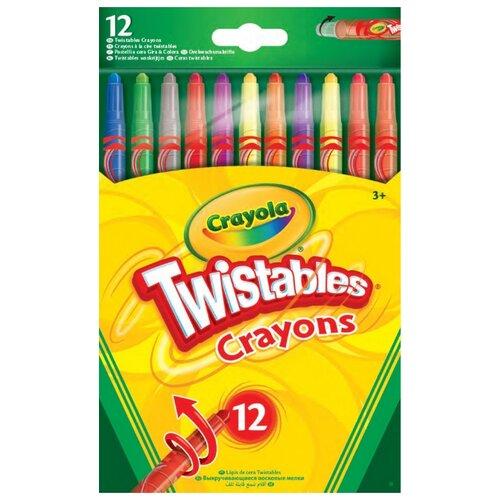Купить Crayola Восковые мелки выкручивающиеся 12 цветов 52-8530, Пастель и мелки
