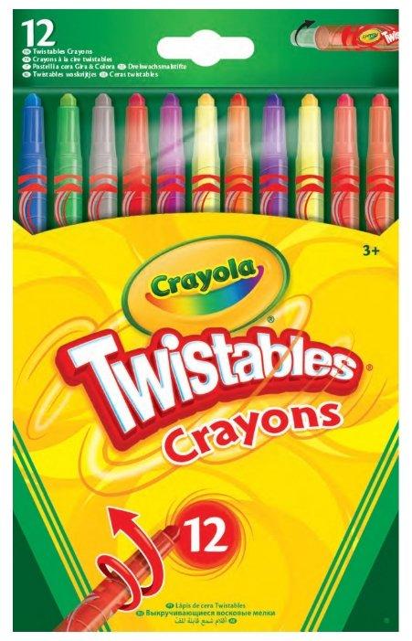 Crayola Восковые мелки выкручивающиеся 12 цветов 52-8530