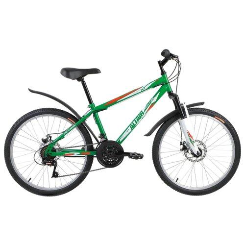 Подростковый горный (MTB) велосипед ALTAIR MTB HT 24 Disc (2017) зеленый 14 (требует финальной сборки)Велосипеды<br>
