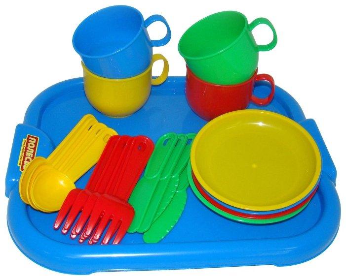 """Набор посуды Полесье """"Минутка"""" с подносом на 4 персоны 9530"""