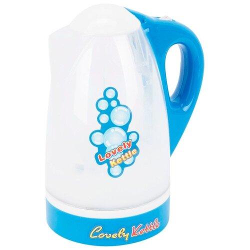 Купить Чайник Shantou Gepai Lovely kettle 3521-21 бело-голубой, Детские кухни и бытовая техника
