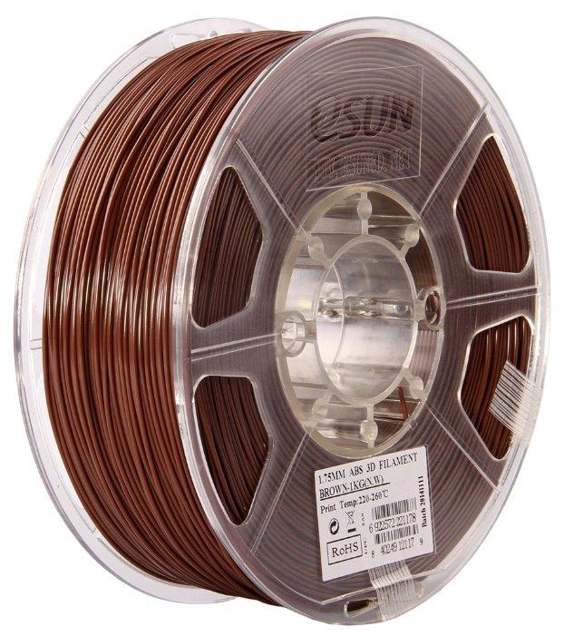 ABS пруток ESUN 1.75 мм коричневый