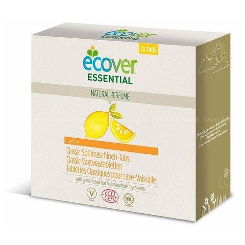 бытовая химия ecover таблетки для посудомоечной машины 3 в 1 0 5 кг Ecover Essential таблетки (лимон) для посудомоечной машины, 70 шт., 1.4 кг