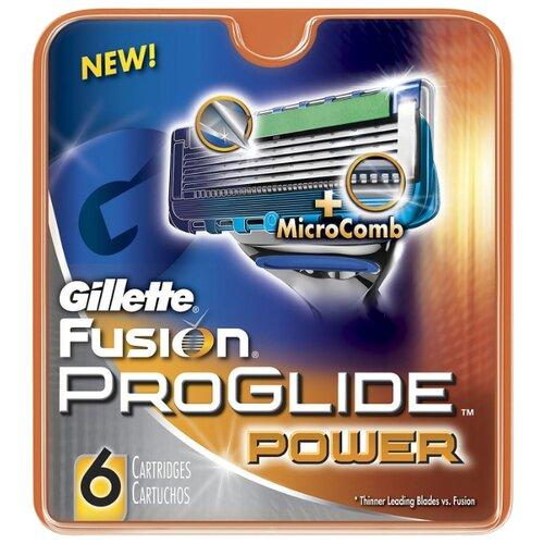 Cменные кассеты Gillette Fusion5 ProGlide Power , 6 шт.Бритвы и лезвия<br>