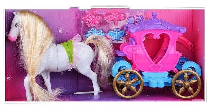 Лошадка с каретой и аксессуарами