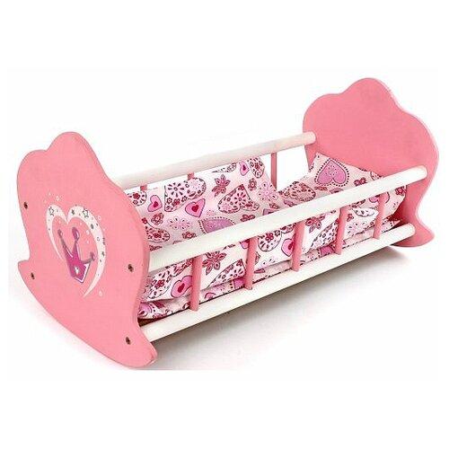 Mary Poppins Кроватка-люлька Корона (67115) розовый mary poppins мебель для кукол mary poppins корона кроватка каталка карета