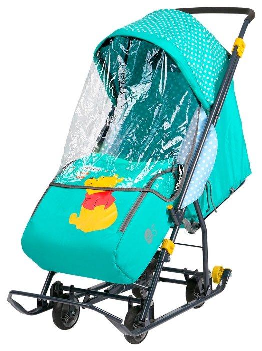 Сани коляска Ника комбинированная Disney Baby 1 (С Далматинцами голубой) DB1/4