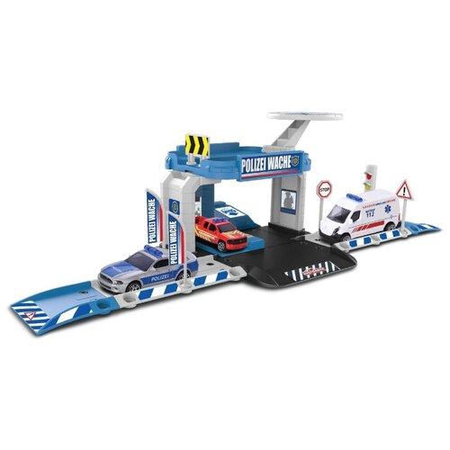 Купить Majorette Игровой набор Creatix Полиция с машинкой 2050001, Детские парковки и гаражи