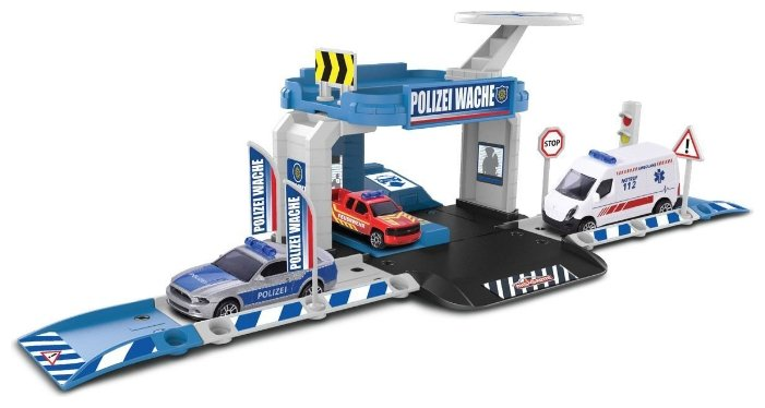Majorette Игровой набор Creatix Полиция с машинкой 2050001