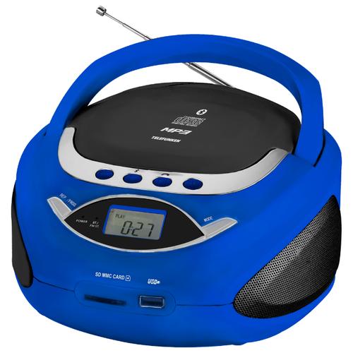 Магнитола TELEFUNKEN TF-CSRP3494B синий аудиомагнитола telefunken tf csrp3494b красный