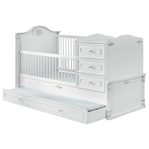 Кроватка Cilek Romantic трансформер (80x180 см) белый кроватка jakomo teo 7 в 1 трансформер белый