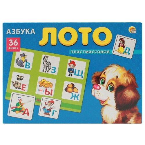 Купить Настольная игра Рыжий кот Лото Азбука ИН-8080, Настольные игры