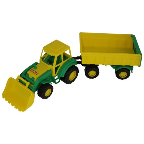 Фото - Трактор Полесье Мастер с прицепом №1 и ковшом (35264) 51 см трактор полесье алтай с прицепом 2 и ковшом 35363 66 см