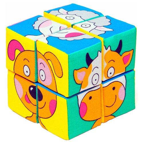 Купить Кубики-пазлы Мякиши Собери картинку Зверята, Детские кубики