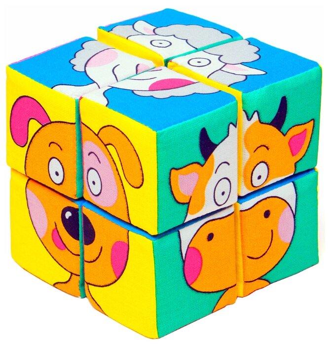 Кубики-пазлы Мякиши Собери картинку Зверята