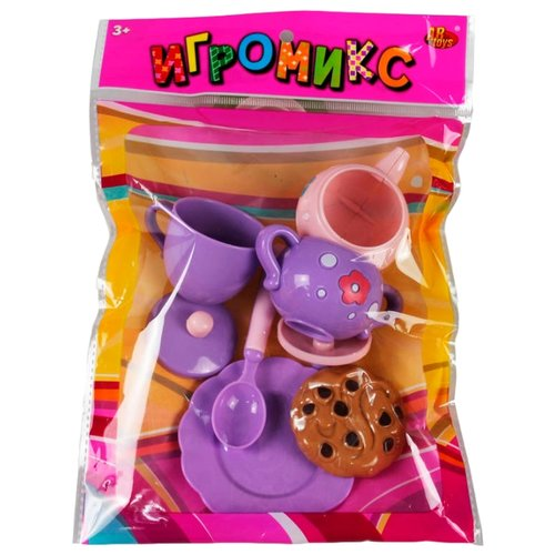 Набор продуктов с посудой ABtoys Игромикс M6011 разноцветный игровой набор abtoys игромикс