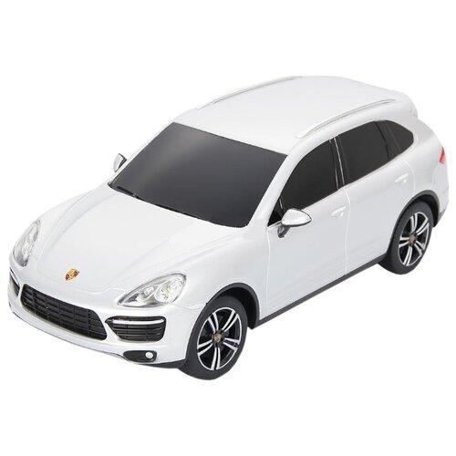 Купить Легковой автомобиль Rastar Porsche Cayenne Turbo (46100) 1:24 18 см белый, Радиоуправляемые игрушки
