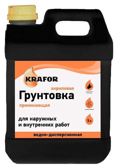 Грунтовка Krafor проникающая универсальная (5 л)