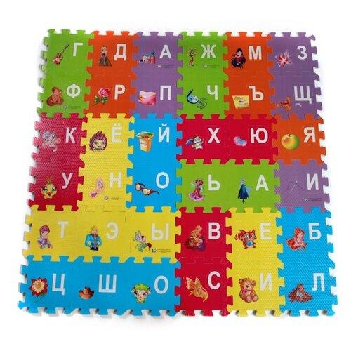 Купить Коврик-пазл Играем вместе Winx Club Азбука с вырезанными буквами (FS-ABC-02-WINX), Игровые коврики