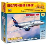 Сборная модель ZVEZDA Региональный пассажирский авиалайнер Superjet 100 (7009PN) 1:144--,