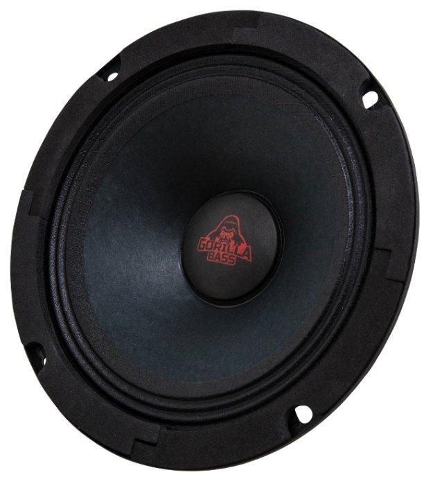 Колонки автомобильные KICX Gorilla Bass GBL65, широкополосные, 200Вт, комплект 2 шт. [2012624]