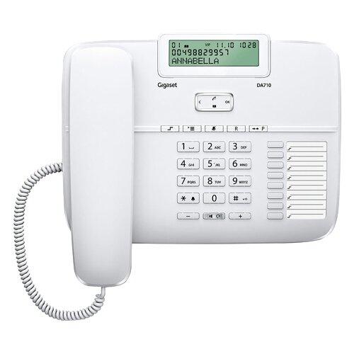 Телефон Gigaset DA710 белыйПроводные телефоны<br>