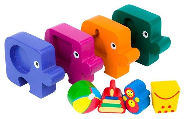 Набор рамок-вкладышей Step puzzle Baby Step Подбираем фигуры Игрушки (89026)