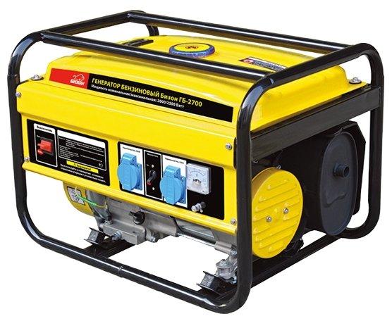 Купить Бензиновый генератор Бизон ГБ-2700 (2000 Вт) по низкой цене с доставкой из Яндекс.Маркета (бывший Беру)