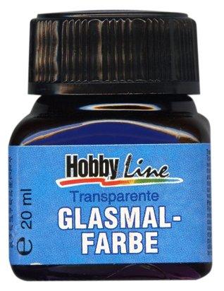 Краски Hobby Line Glasmal Farbe №206 Синий прозрачный KR-45206 1 цв. (20 мл.)